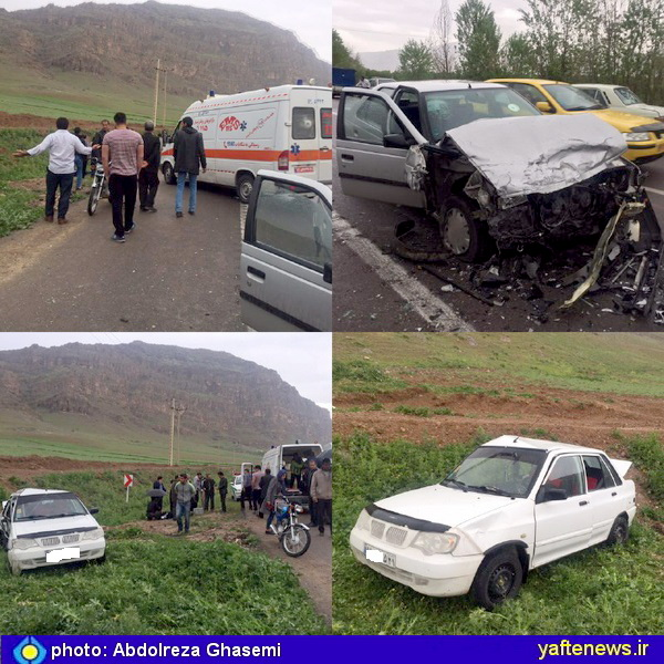 تصادف شدید در محور خرمآباد به کوهدشت/ راننده مقصر فرار کرد+ عکس