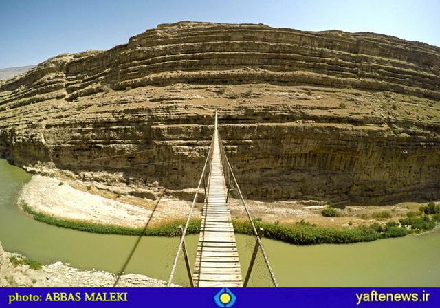 تصاوير ديدني مرتفعترين پل معلق ايران در لرستان/ ماجراجويي خبرنگار يافته!